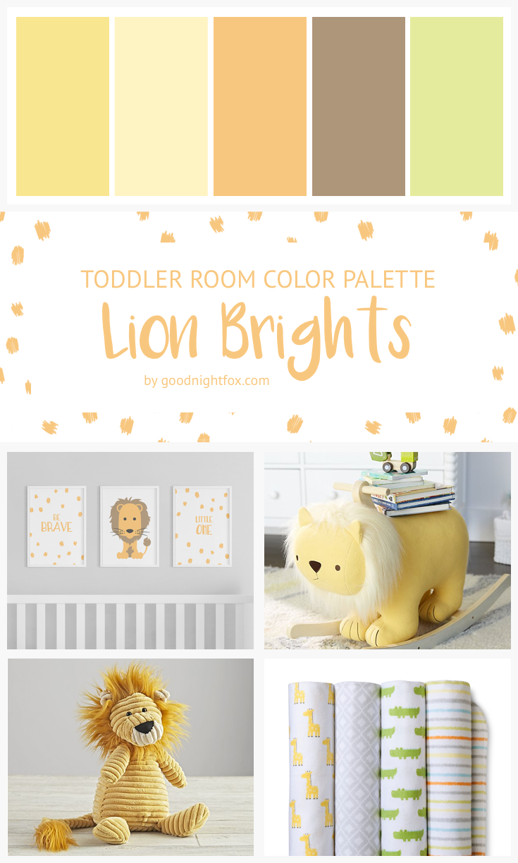 Yellow Green Toddler Room Color Palette Goodnight Fox Boy Nursery Colors Colorful Kids Room Nursery Color Palette