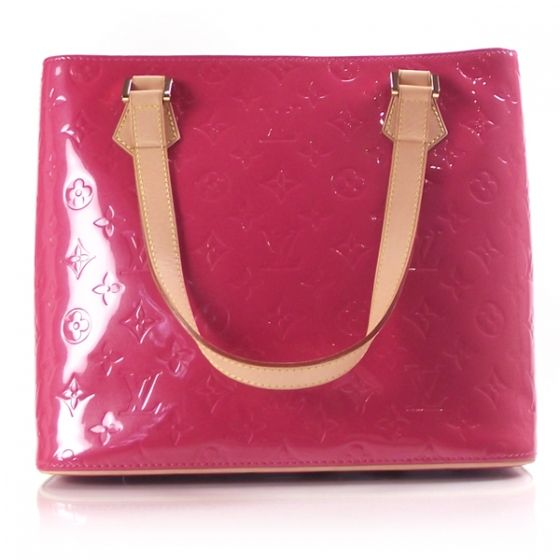 Louis Vuitton Vernis Houston in FRAMBOISE pink with vachetta leather trim  and straps. ce9760409d5d5