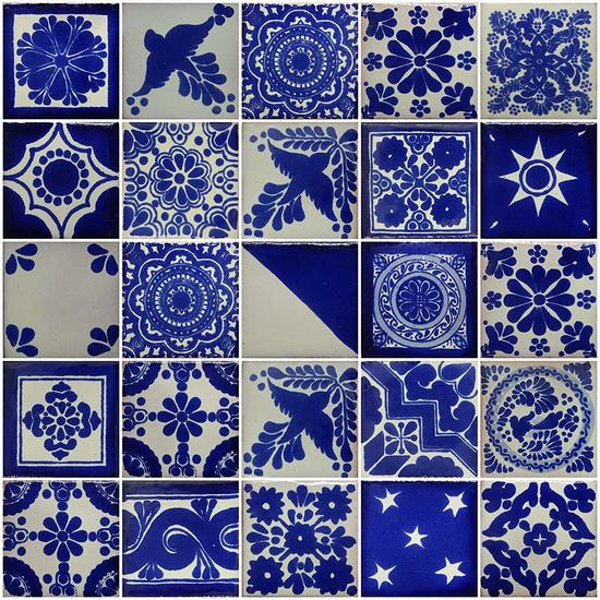 mexican tile mix of 4x4 tiles they are