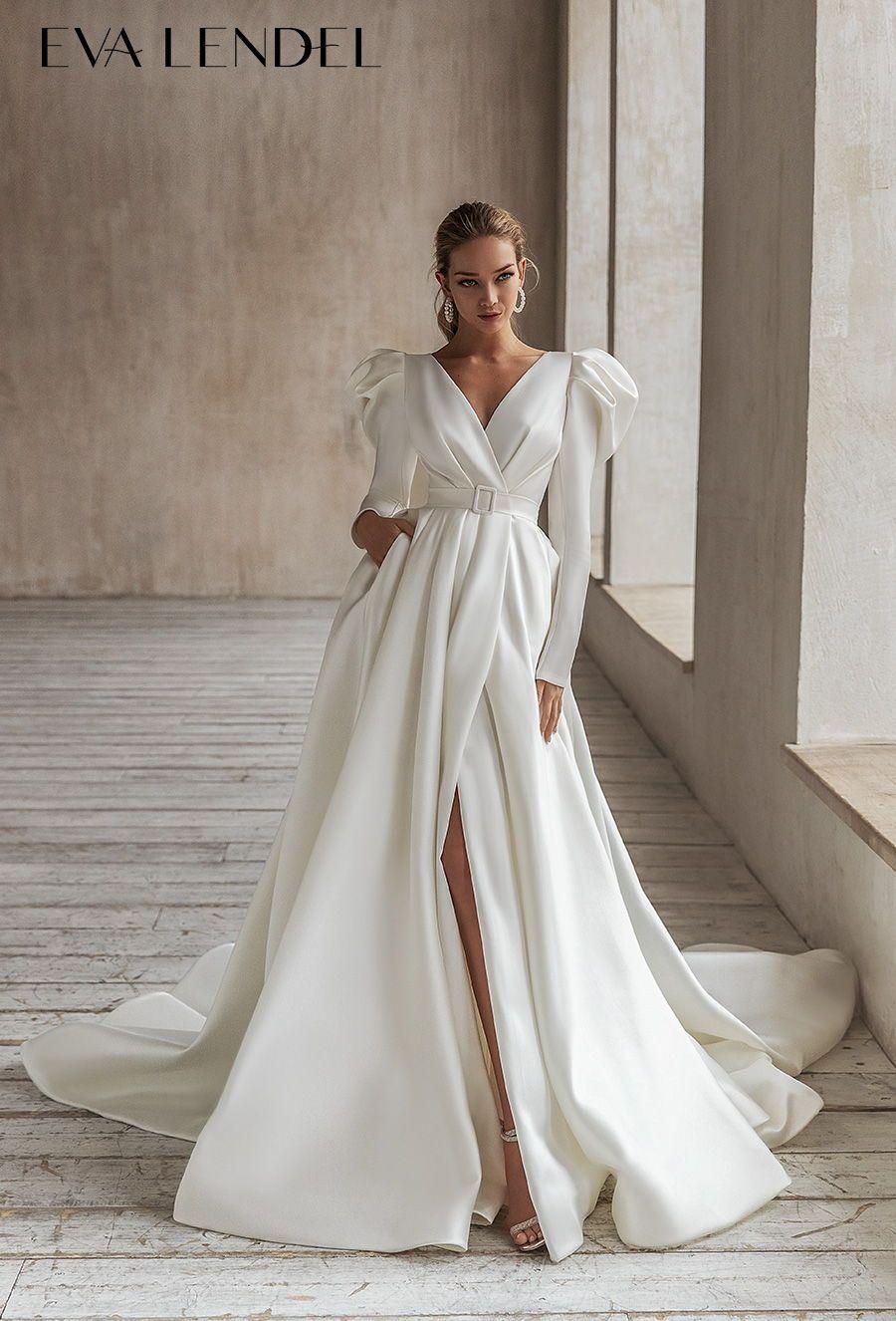 Eva Lendel 2021 Wedding Dresses Less Is More Bridal Collection Wedding Inspirasi Modern Wedding Dress Wedding Dresses Chic Wedding Dresses [ 1326 x 900 Pixel ]