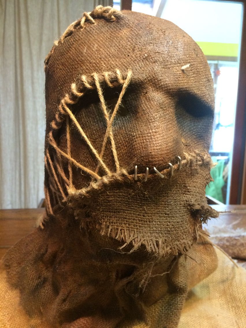 Scarecrow mask that I'm making for the Hawthorne hotels Halloween ...