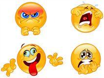 Emotions emoticons Stock Photos