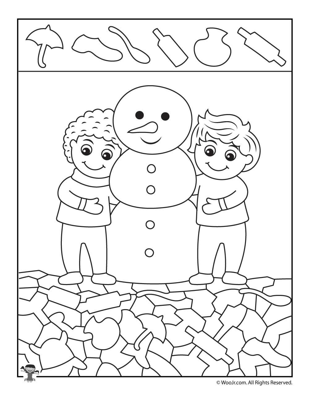 Winter Hidden Pictures Coloring Pages K 2 Immediately Pinterest
