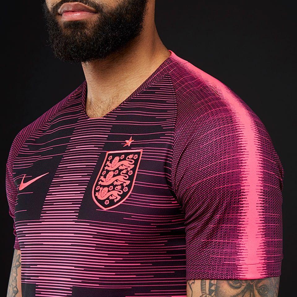 7c4e6fa2c Nike England 2018 Pre-Match Stadium Shirt SS Remix - Mens Replica - Shirts  - Racer Pink/Black/Racer Pink