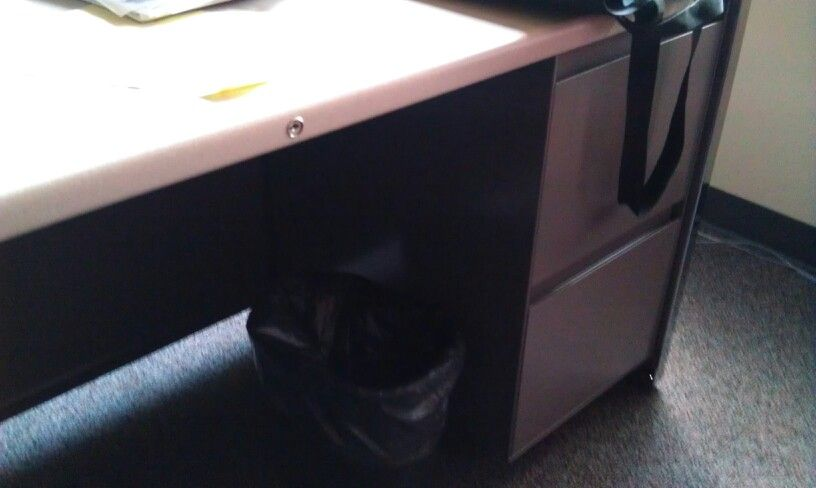 At Dalton State Every Desk Had A Recycle Bin And A Trash Can Not