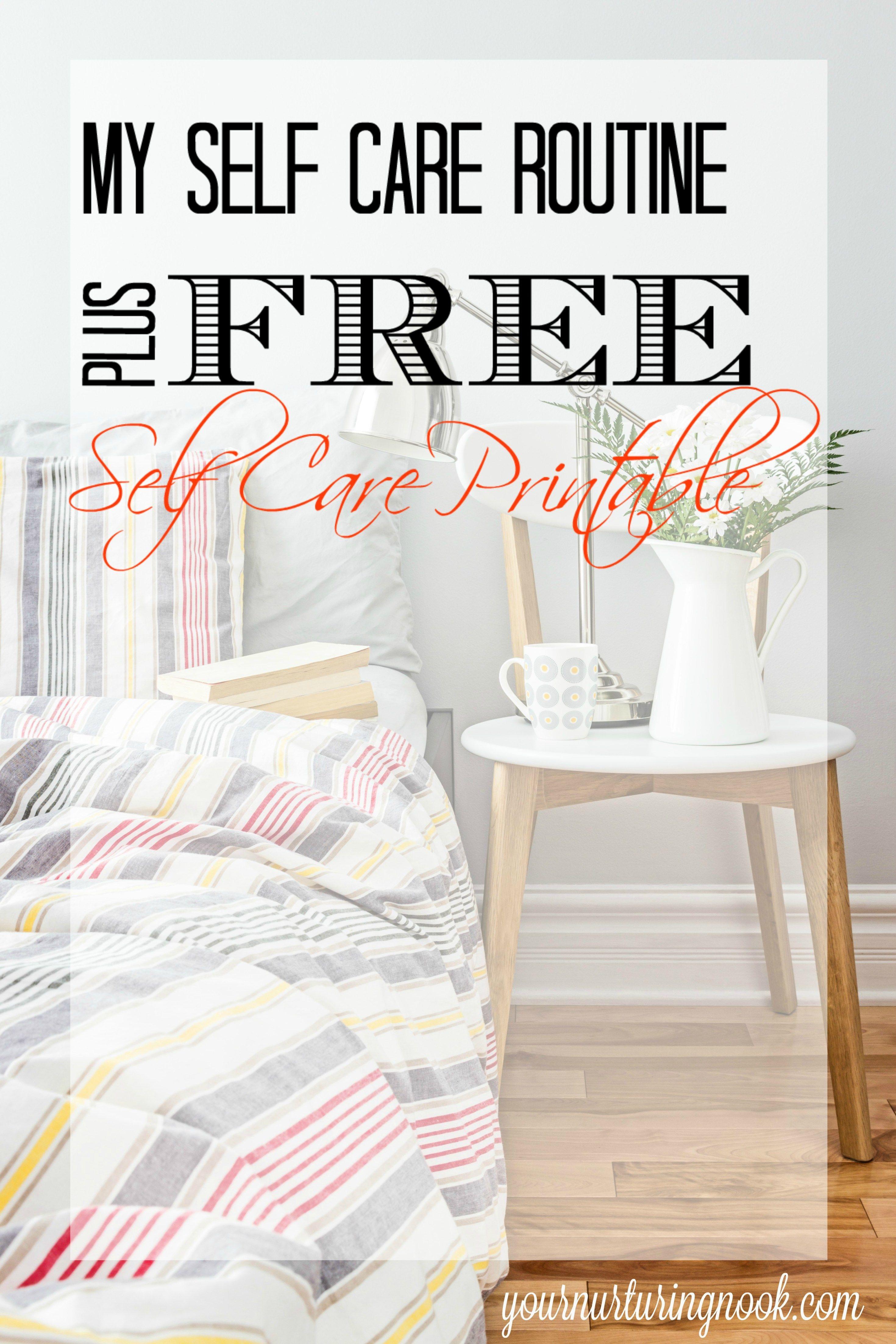 My Self Care Plan Free Self Care Printable