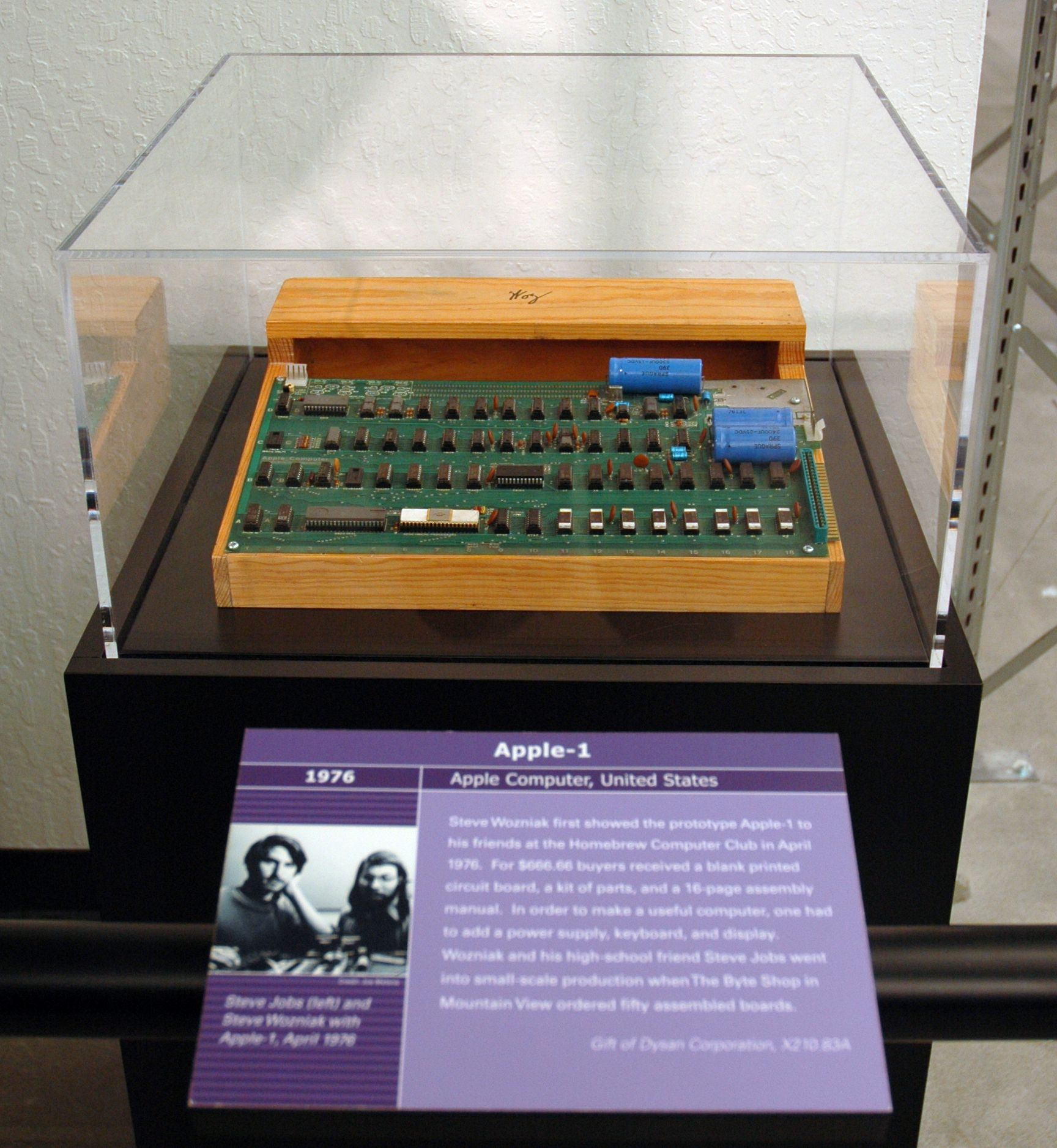 The very first Apple product, the Apple-1 computer, 1976.