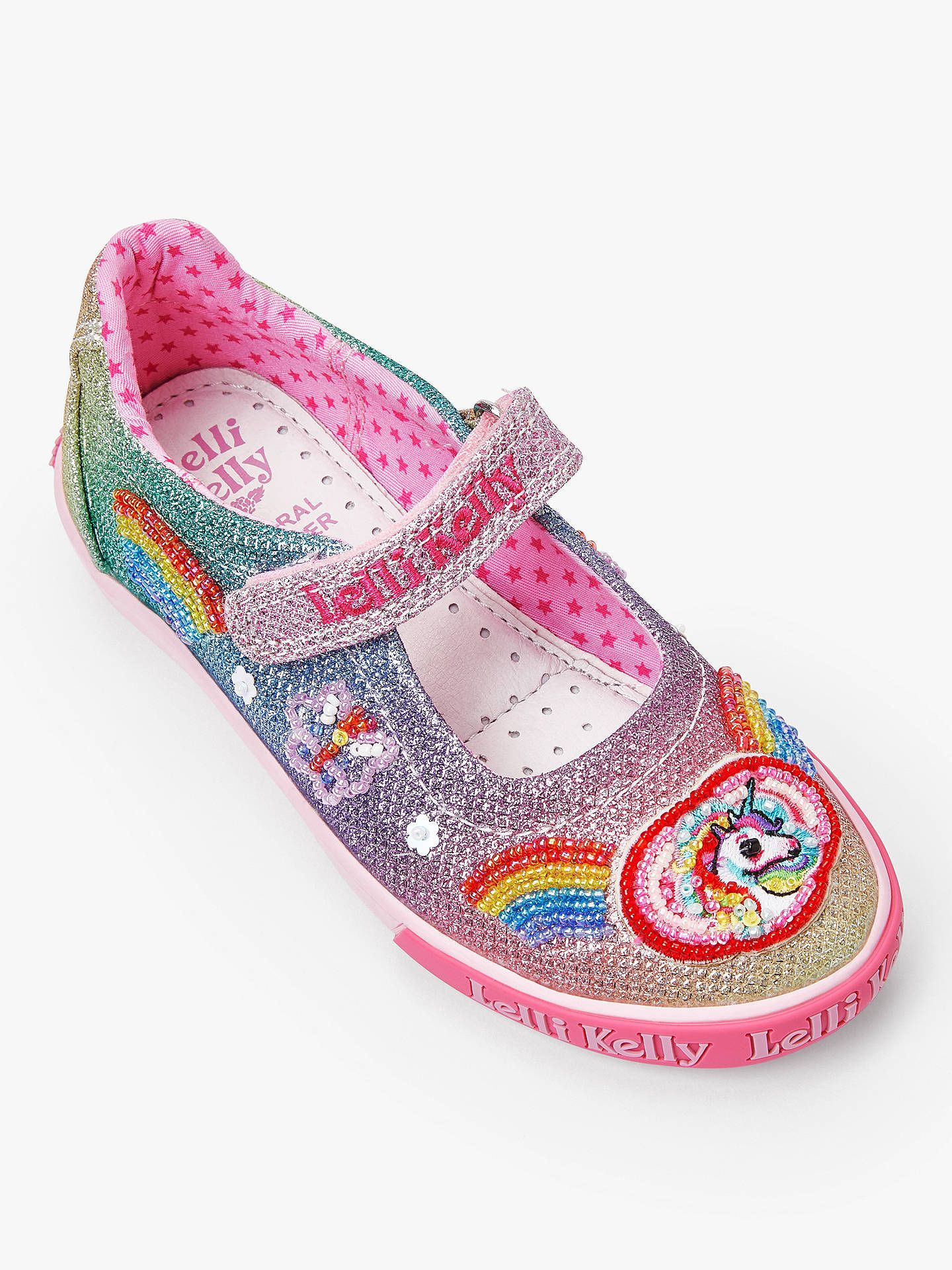 the cheapest where can i buy new collection Lelli Kelly Children's Rainbow Dolly Shoes, Multi | Unique shoes ...