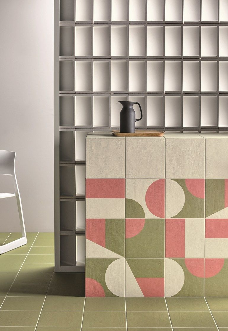 Puzzle Olive Murano Powder By Mutina Interiors Tiles