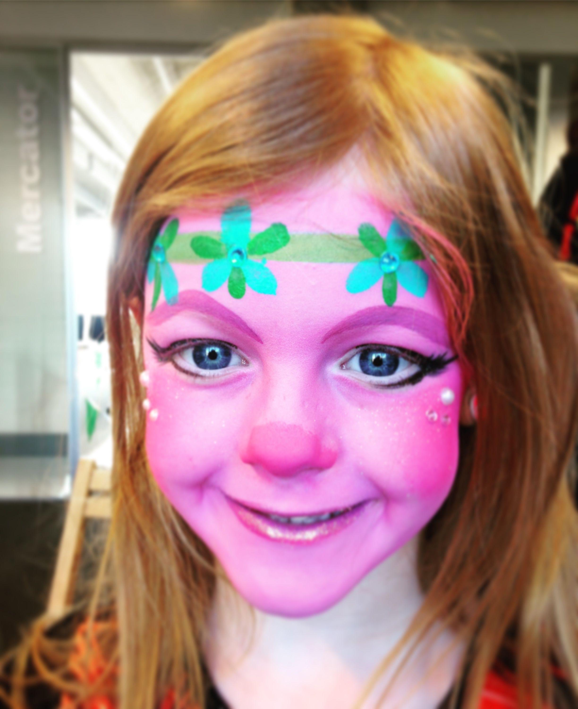 Troll poppy facepaint | Face painting | Pinterest | Face paintings