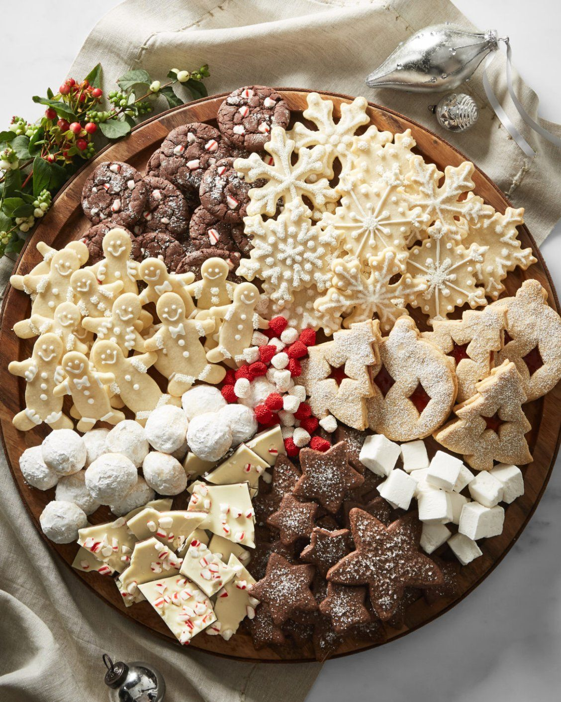 How to Build a Holiday Cookie Board Christmas Cookies