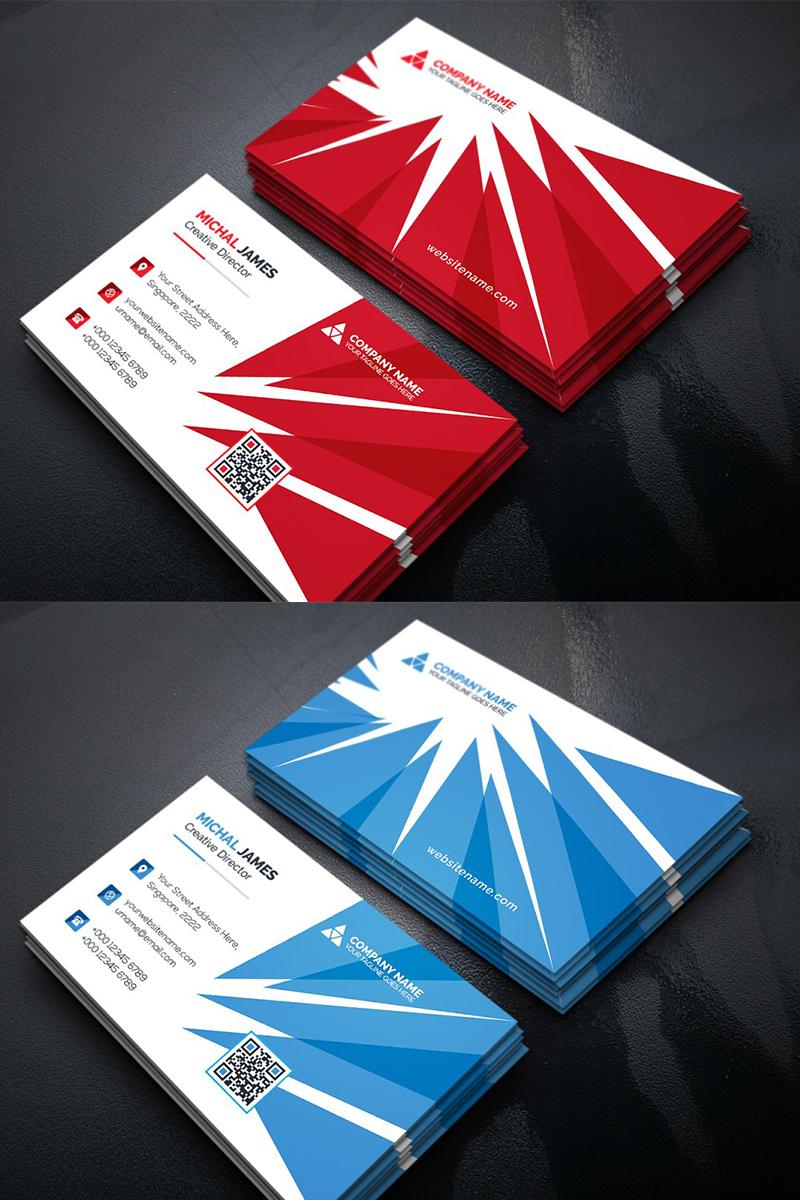 Burst Business Card Corporate Identity Template In 2020 Business Cards Corporate Identity Business Card Template Design Business Cards Creative
