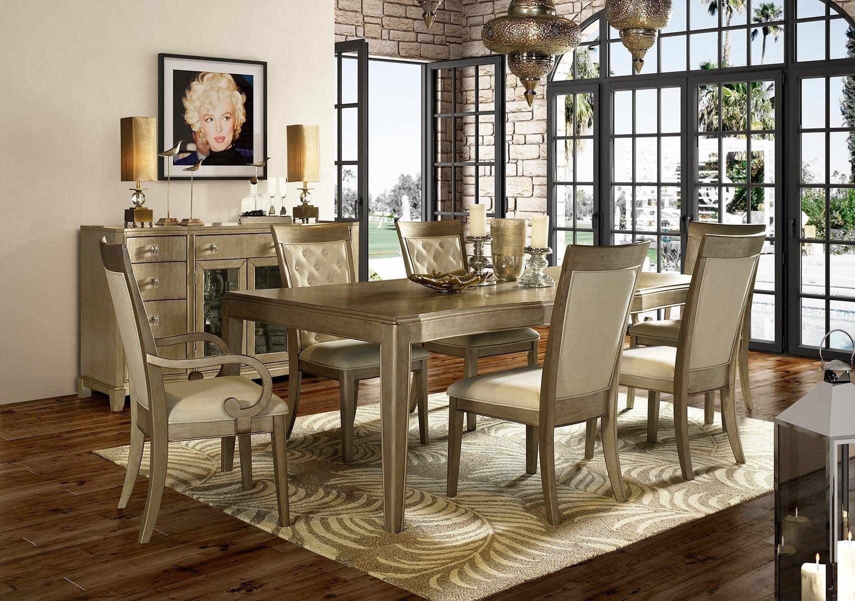 Lacks Monroe 7 Pc Dining Set Dining Room Sets Ashley Furniture Dining Room Metal Dining Room