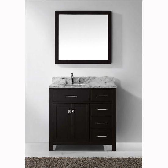 36 Caroline Single Sink Bathroom Vanity By Virtu Usa Right