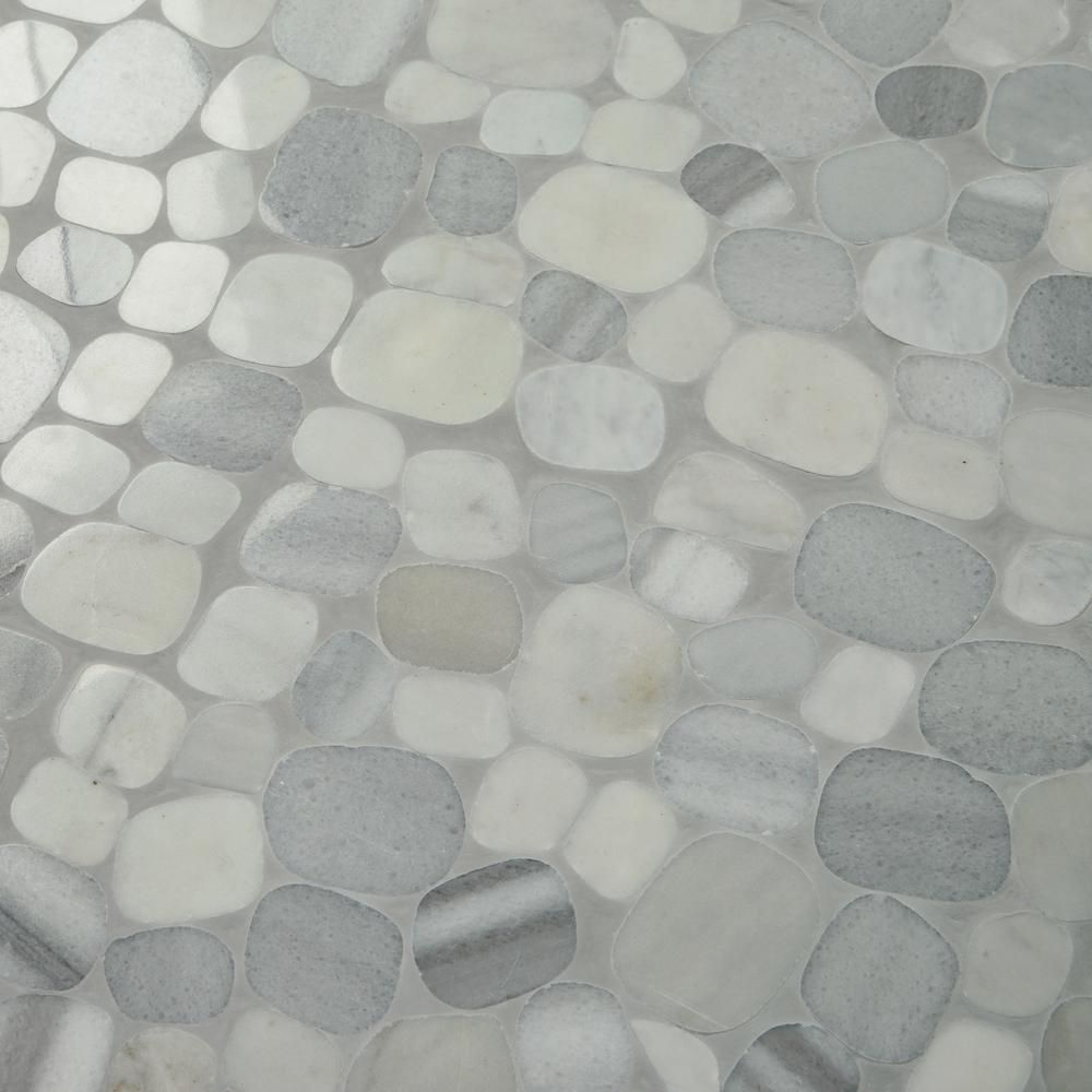 Daltile Stone Decor Shadow 12 In X 12 In X 10 Mm Marble Pebble Mosaic Floor And Wall Tile 0 95 Sq Ft Piece St54flpebccms1l The Home Depot Mosaic Flooring Pebble Mosaic Tile Stone Decor