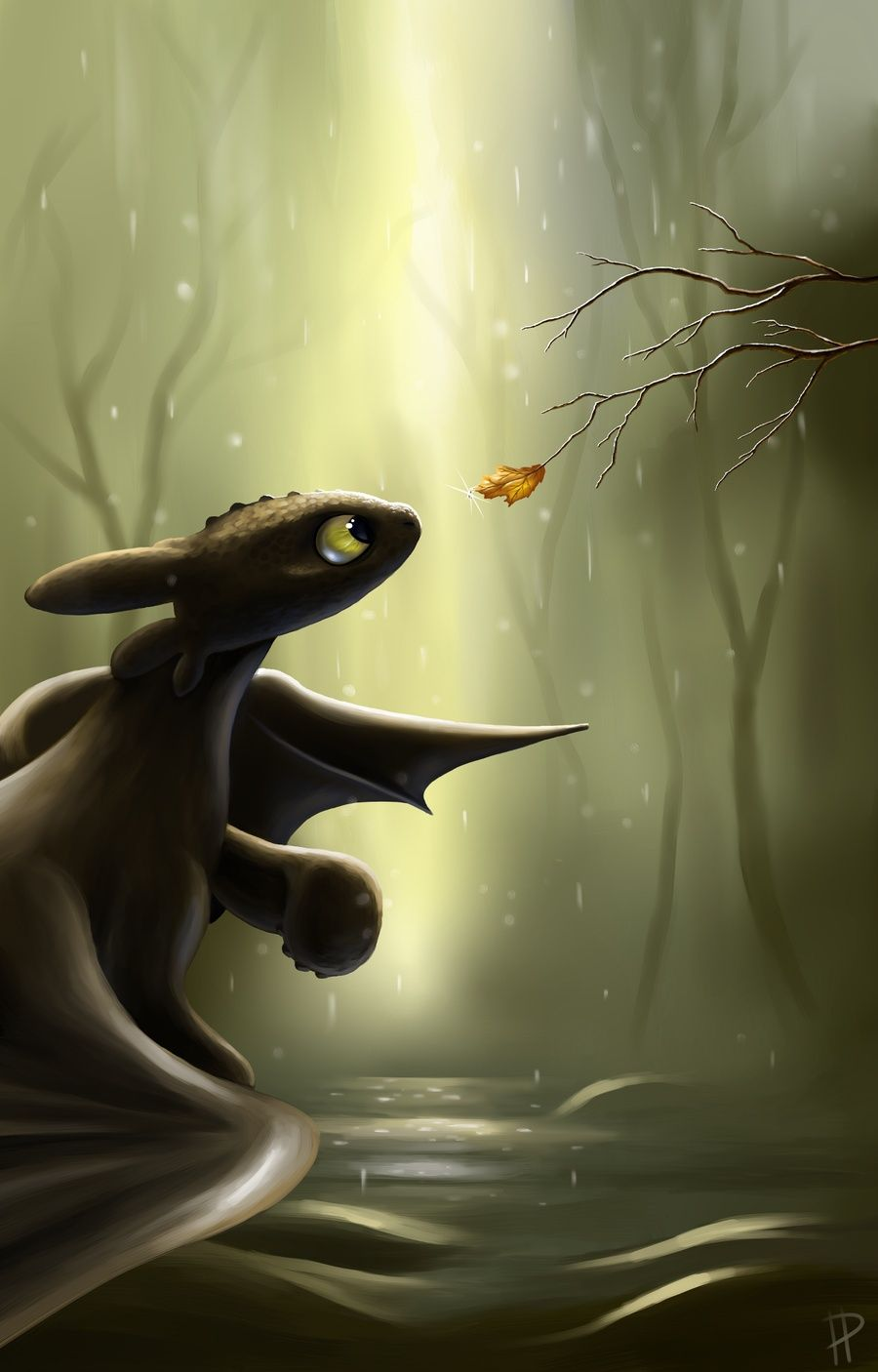 Awww how to train your dragon night fury for my sister jade art dragon krokmou nuit - Dragon fury nocturne ...