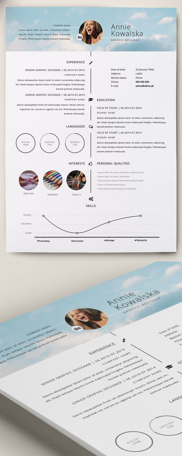 u00c9pingl u00e9 par the ux blog sur cv  u0026 resume design