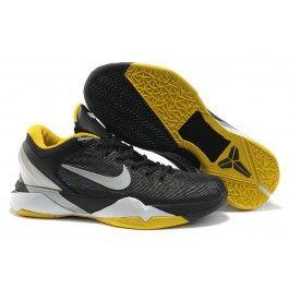 Neue Ankunft Nike Zoom Kobe VII Männerschuhe Schwarz Gelb