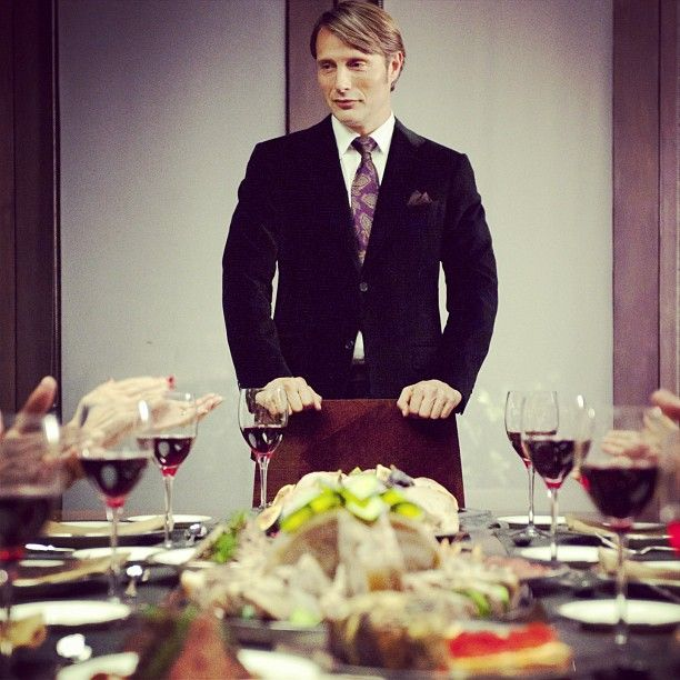 What I love about Hannibal is that it is an art and a personal joke to himself to serve deliciously cooked human parts to other people without their knowledge. And then he works subtle little jokes about it into the dinner conversation. Flawless.