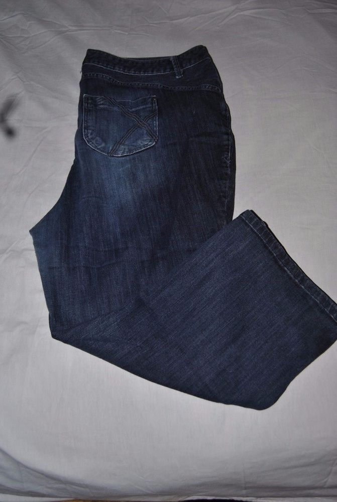 1bbd2cdd89c Lane Bryant jeans with no Lane Bryant tag blue dark wash denim size 20 avg   LaneBryant  BootCut