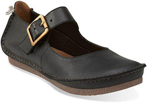 7ec0e237b5335 Clarks Women's Janey June Mary Jane,Black Leather,US 10.5 M - Clarks ...