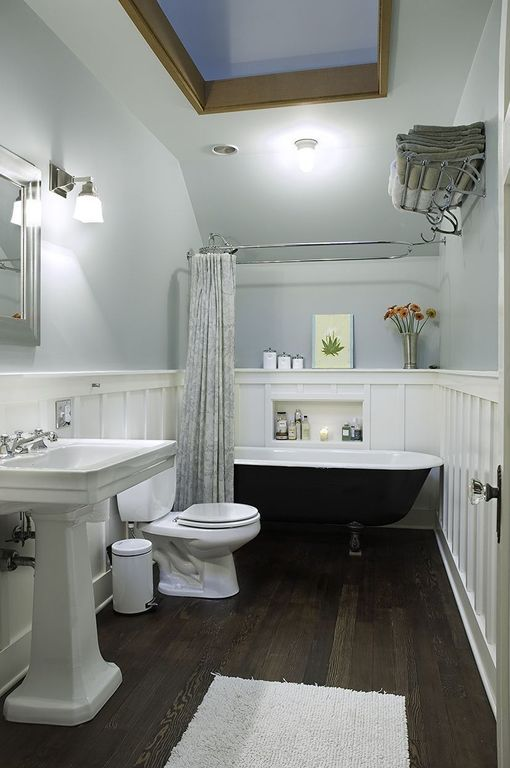 Traditional Full Bathroom with Wall sconce, Toto drake ii two piece ...