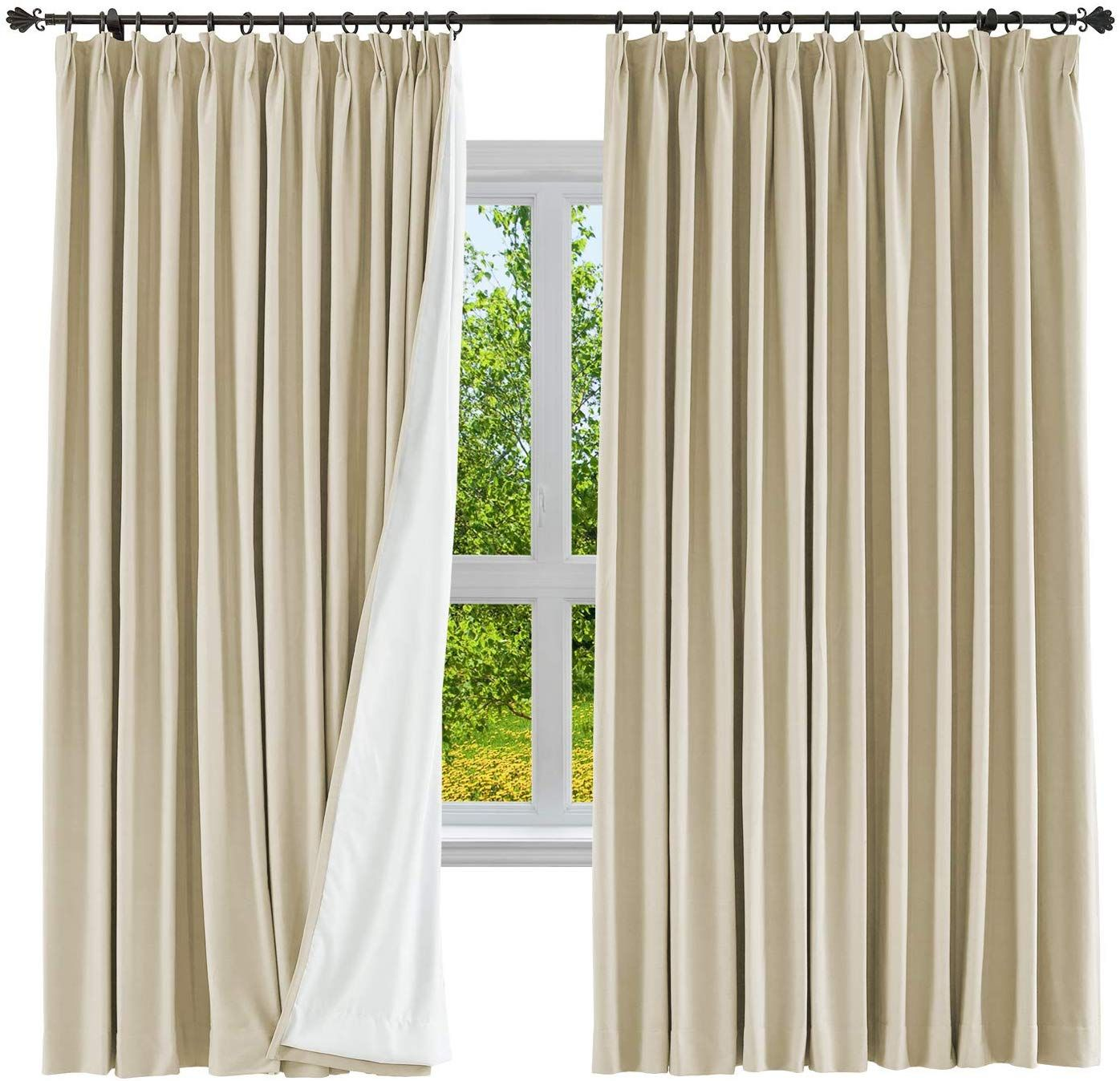 Amazon Com Cololeaf Blackout Curtain Panel Cotton Linen Drape