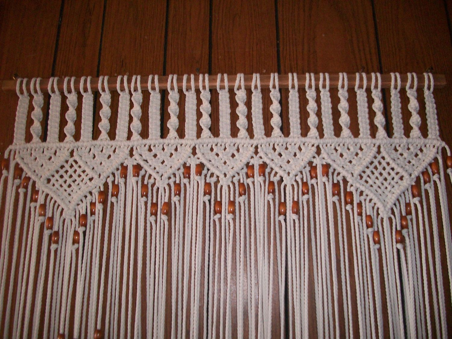 Curtain In Macrame Bead Fringed Door Curtain