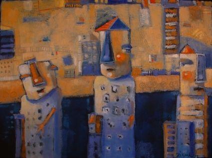 City Folk, painting by artist Brenda York