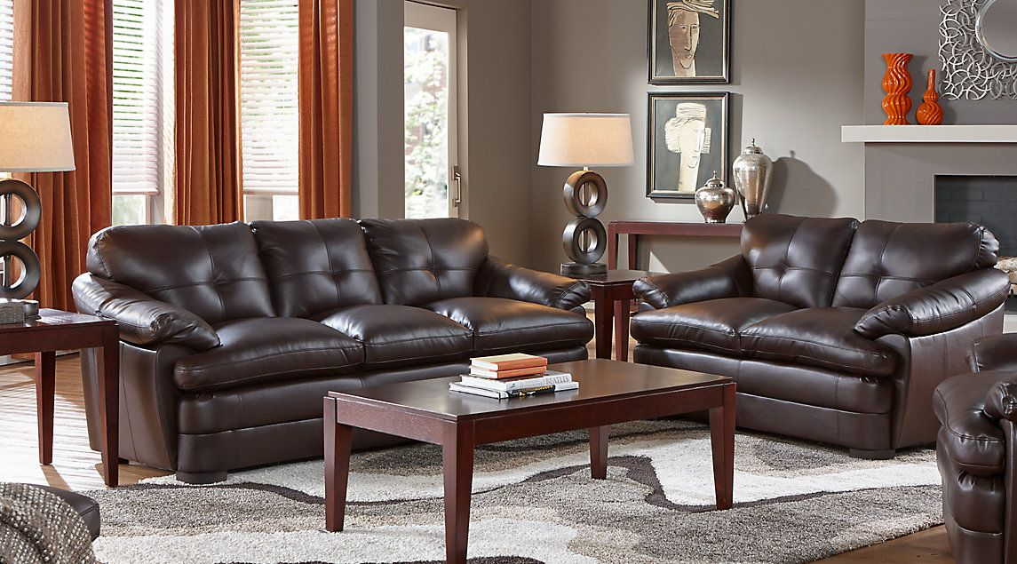 Baycliffe Brown 5 Pc Living Room