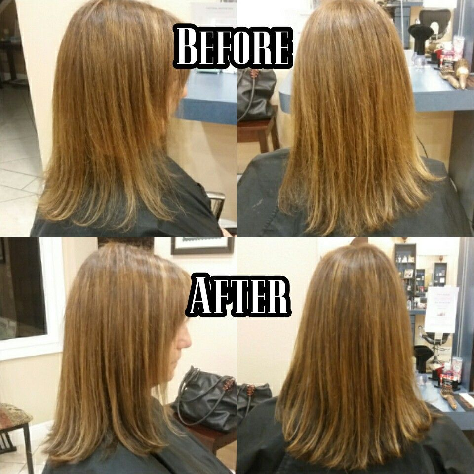 Hair Extensions Before And After Hair By Annalisa Hontz Stylist At