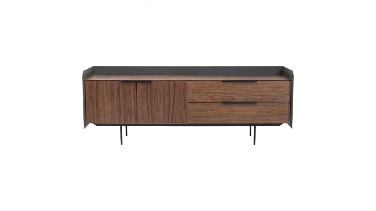 Meuble Tv Bois Clair Et Gris 2 Portes Undercover Kare Design  # Table Tv Bois Design