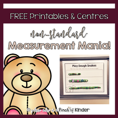 Free Printables & Centres for Non-Standard Measurement in Kindergarten