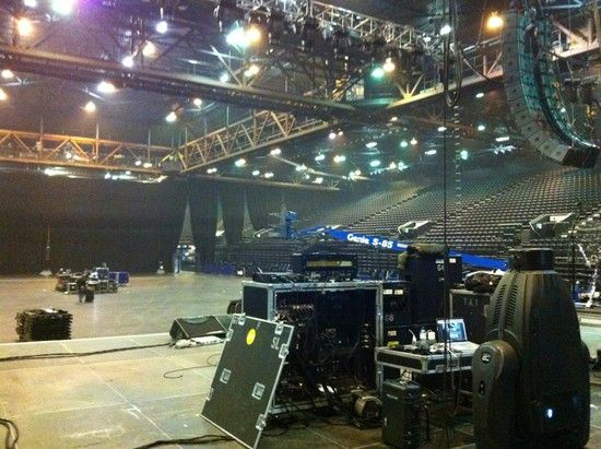 """Mark Tremonti """"Setting up our first headlining arena show here in Birmingham, England. Thank you all for making it happen!!"""""""