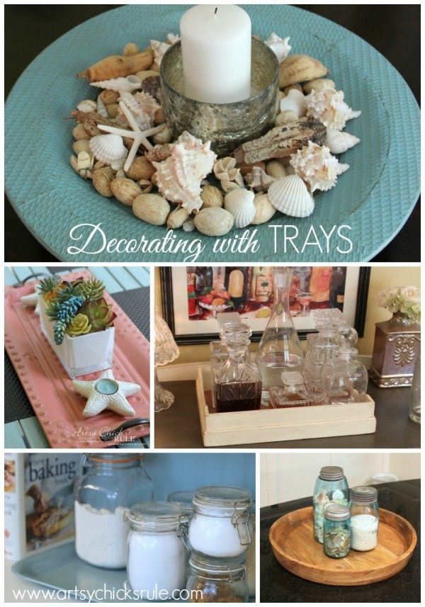 Home Decor Trays Decorating With Trays Decorating Challenge  Trays Decorating