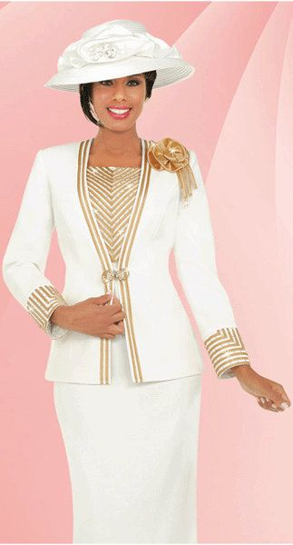 Womens Church Suits With Matching Church Hat By Yesufashions
