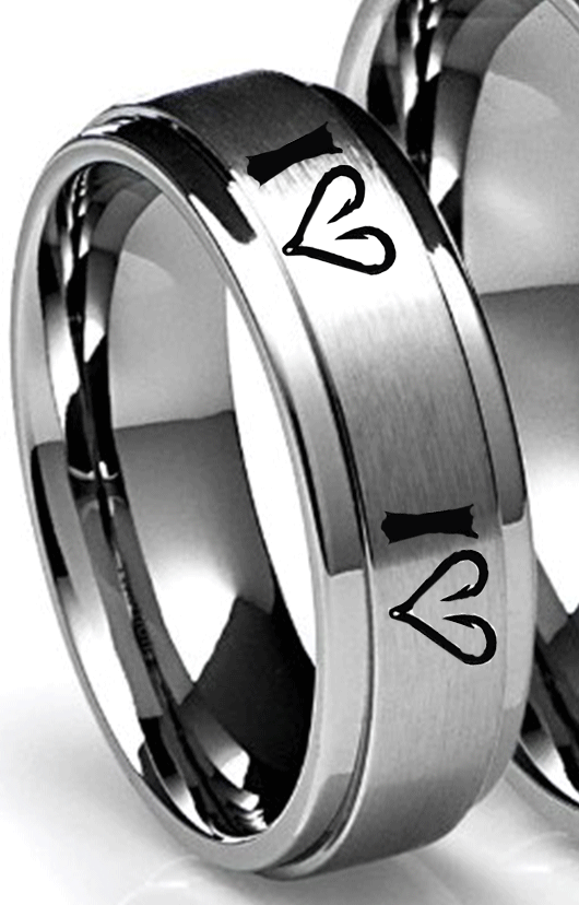 Southern Sisters Designs - I Love Fishin With Fish Hook Hearts Ring - 8 MM, $24.95 (http://www.southernsistersdesigns.com/i-love-fishin-with-fish-hook-hearts-ring-8-mm/)