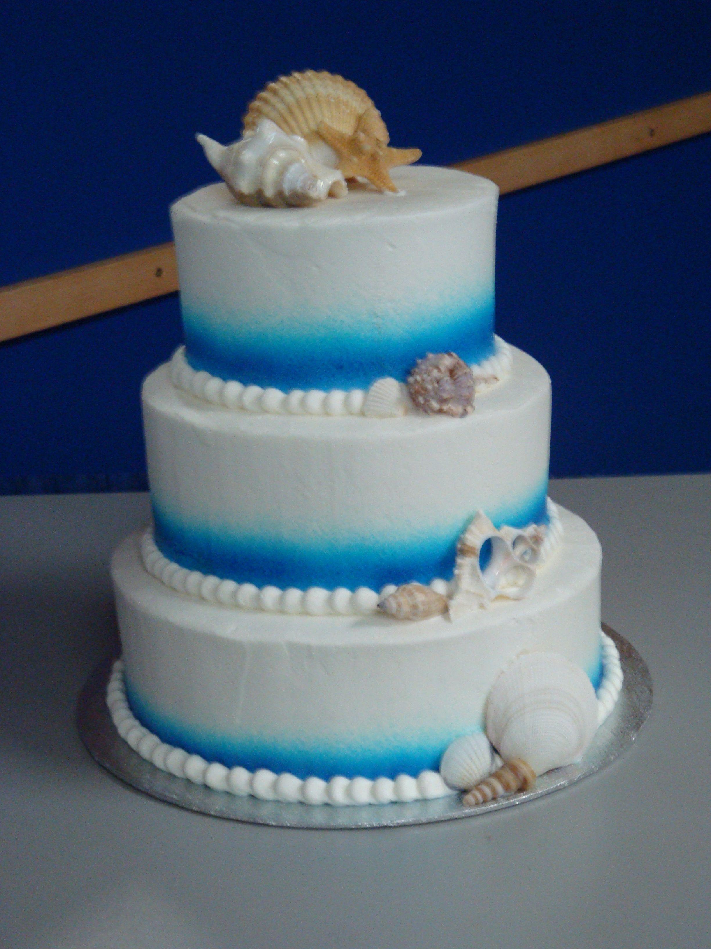 Under The Sea Wedding Cake Simple Round Wedding Cakes Simple