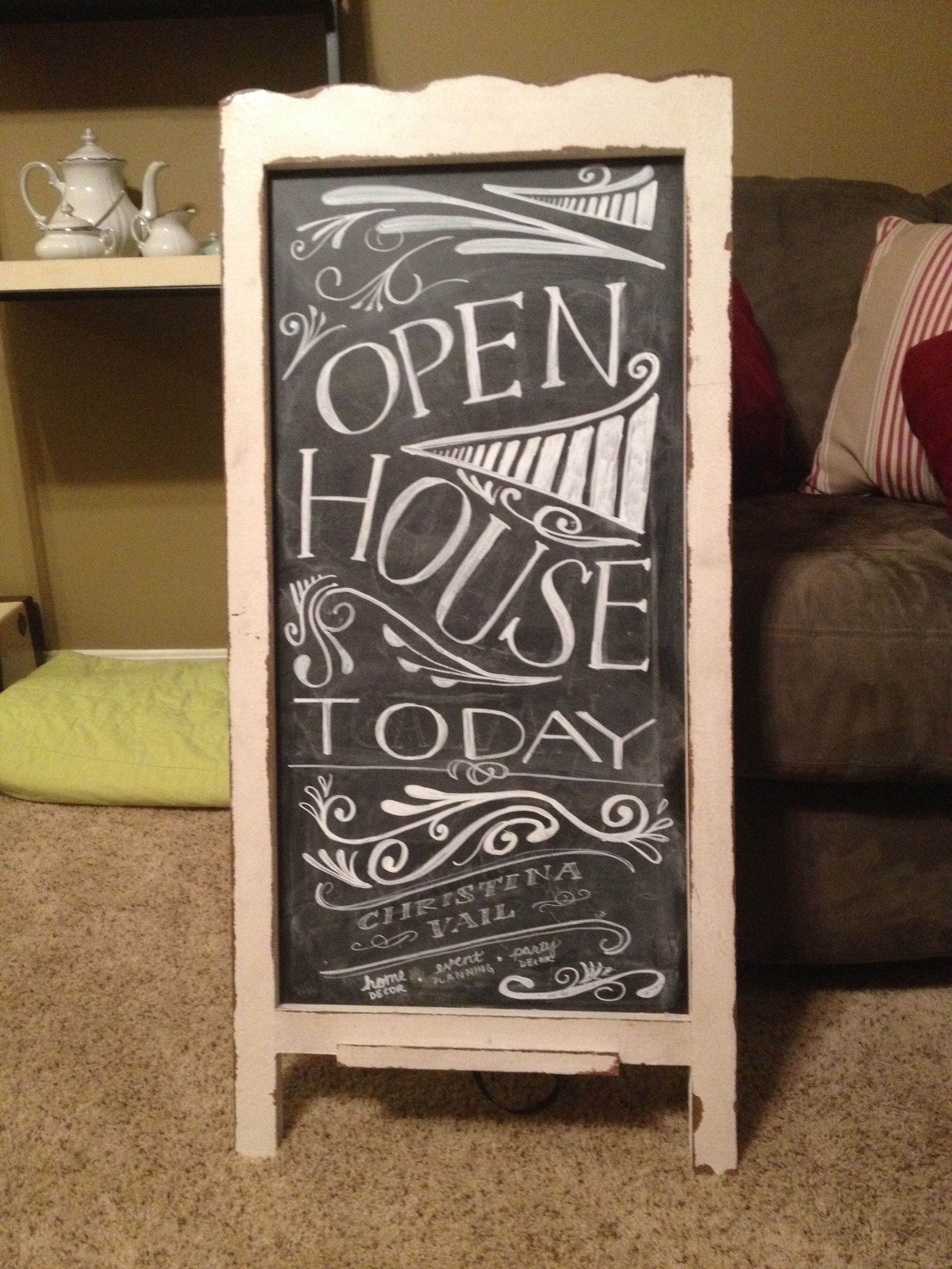 Chalkboard for Christina Vail for Christmas Open House | Original AW ...