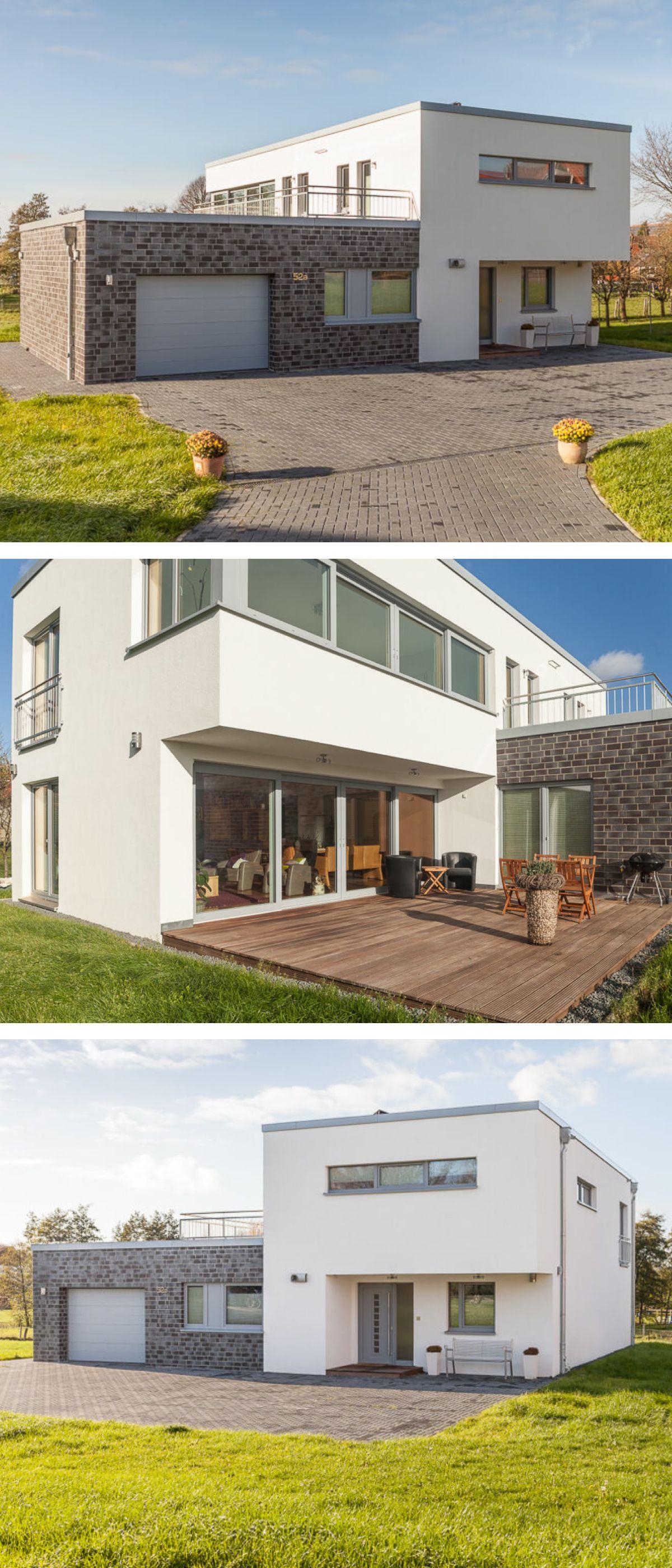 Bauhaus Stadtvilla mit Garage & Flachdach Architektur im