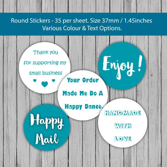Fellow etsy sellers these business sticker are for you https www