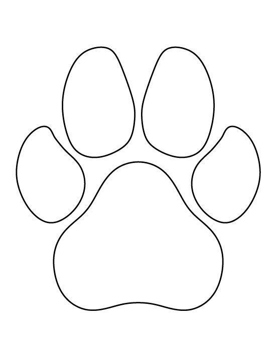 Dog Paw Print Template 3 | Dog paw prints | String art patterns