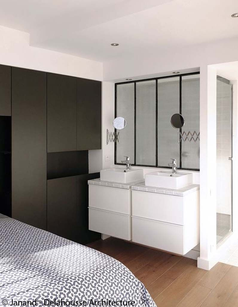 salle d eau dans chambre ce75 jornalagora. Black Bedroom Furniture Sets. Home Design Ideas