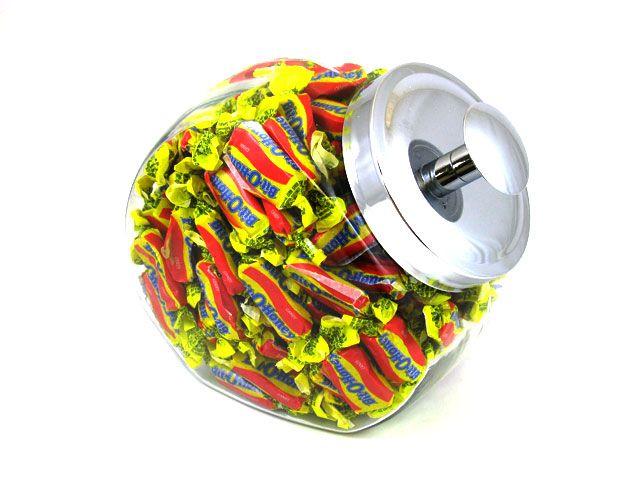 $21.99 http://sanduskycandy.com/candy-colors/yellow-candy/Glass-Candy-Jar-Bit-O-Honey.html