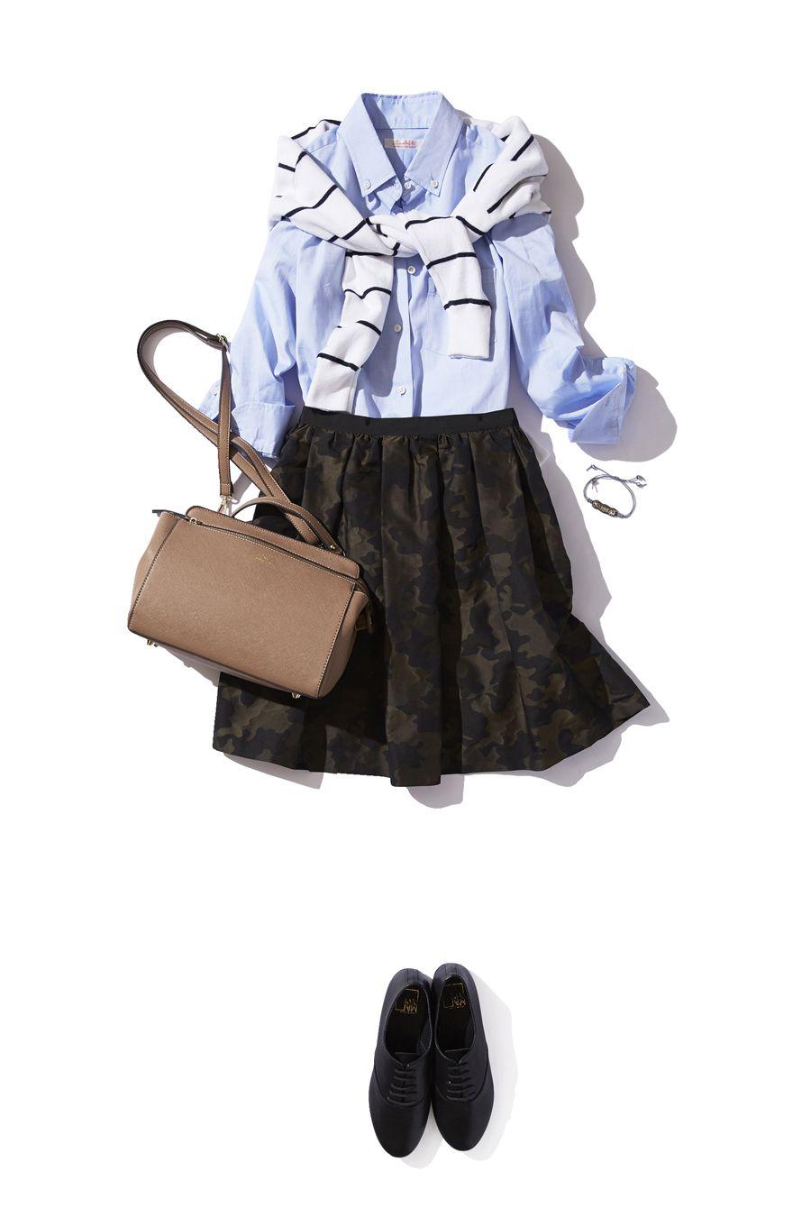 人気のカモフラージュ柄スカートで一足先に秋の装い ― B