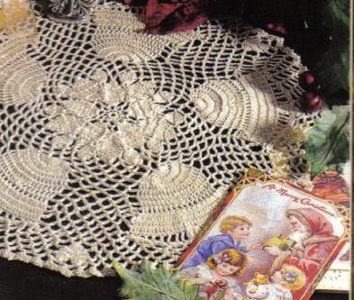 Marvelous Motifs crochet pattern leaflet Blue Stars Doily