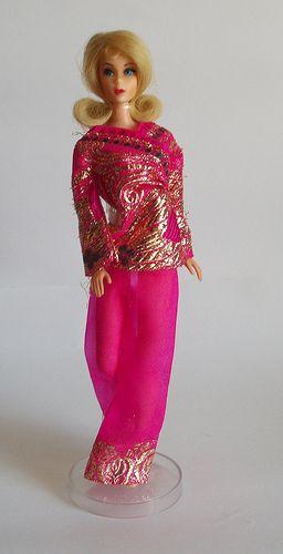 Barbie Bright N Brocade 1786 1970 1971 Vintage Barbiedolls
