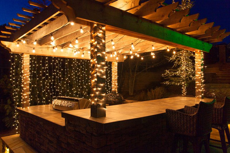 See how fast our deck lighting ideas will inspire you deck deck lighting ideas to hang patio lights white mini lights and wrap columns aloadofball Images