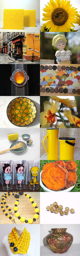 Sweet 16 All about the Yellow by Susan A on Etsy--Pinned with TreasuryPin.com