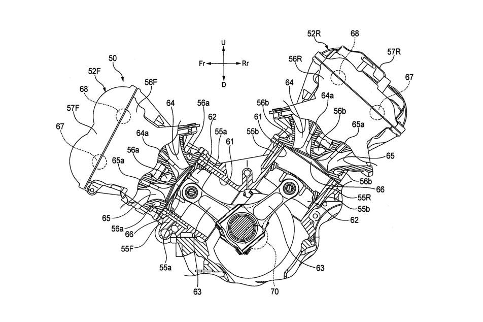 Honda V4 Superbike Engine Outed In Patent Photos Honda V4 Engine